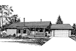 Ranch House Plan Front of Home - 085D-0273 | House Plans and More