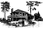 Lake House Plan Front of Home - 085D-0276 | House Plans and More