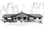Ranch House Plan Front of Home - 085D-0277 | House Plans and More