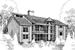 Waterfront Home Plan Front of Home - 085D-0278 | House Plans and More