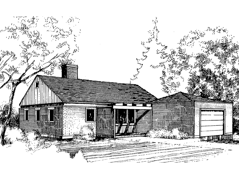 Traditional House Plan Front of Home - 085D-0279 | House Plans and More