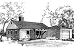 Ranch House Plan Front of Home - 085D-0279 | House Plans and More