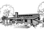 Ranch House Plan Front of Home - 085D-0280 | House Plans and More