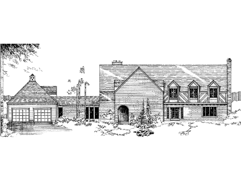 Country French Home Plan Front of Home - 085D-0281 | House Plans and More