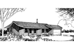 Ranch House Plan Front of Home - 085D-0282 | House Plans and More