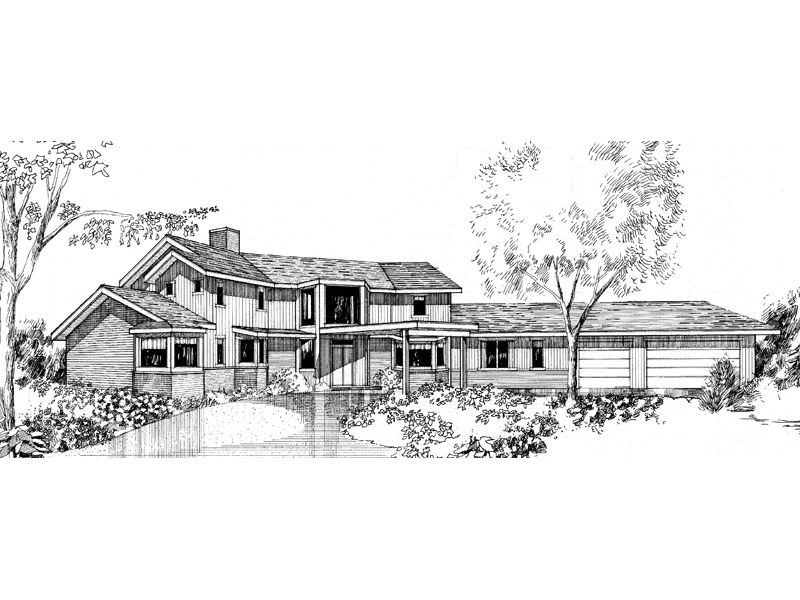 Contemporary House Plan Front of Home - 085D-0284 | House Plans and More