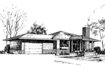 Southwestern House Plan Front of Home - 085D-0285 | House Plans and More