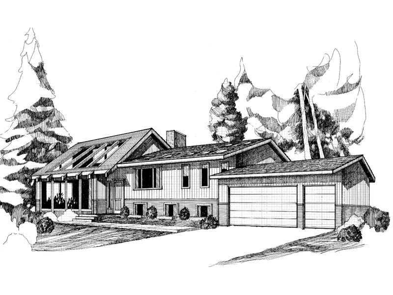 Ranch House Plan Front of Home - 085D-0286 | House Plans and More