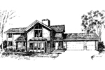 Traditional House Plan Front of Home - 085D-0287 | House Plans and More