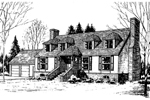 Cape Cod and New England Plan Front of Home - 085D-0289 | House Plans and More