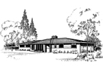 Ranch House Plan Front of Home - 085D-0292 | House Plans and More