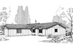 Ranch House Plan Front of Home - 085D-0294 | House Plans and More