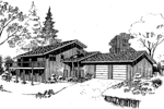Mountain Home Plan Front of Home - 085D-0295 | House Plans and More