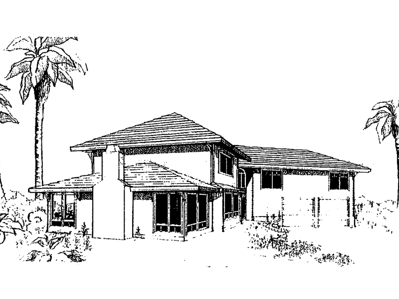 Modern House Plan Front of Home - 085D-0298 | House Plans and More
