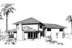Adobe and Southwestern Plan Front of Home - 085D-0298 | House Plans and More