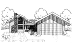 Ranch House Plan Front of Home - 085D-0299 | House Plans and More