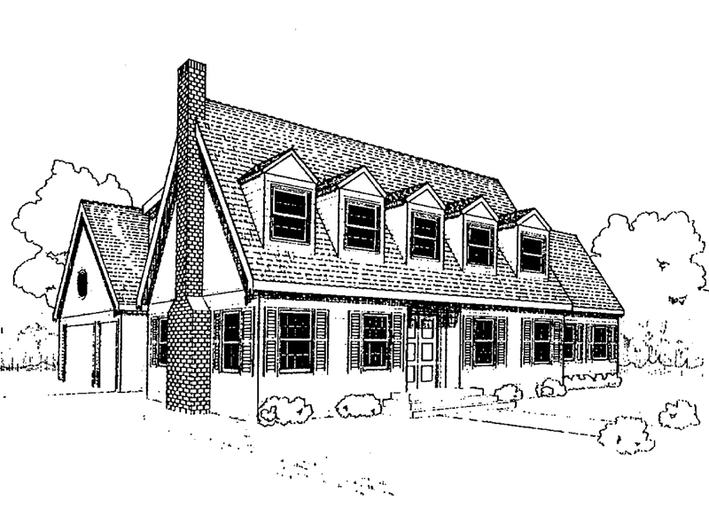 Cape Cod and New England Plan Front of Home - 085D-0301 | House Plans and More