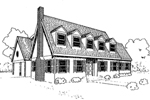 Colonial House Plan Front of Home - 085D-0301 | House Plans and More