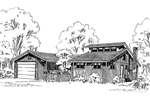 Ranch House Plan Front of Home - 085D-0303 | House Plans and More
