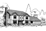 English Tudor House Plan Front of Home - 085D-0304 | House Plans and More