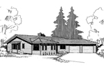 Country House Plan Front of Home - 085D-0306 | House Plans and More