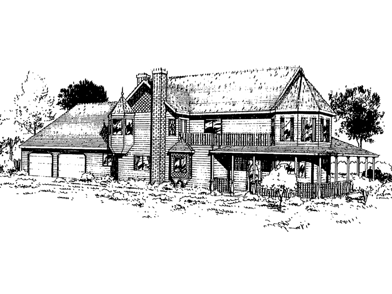 Tudor House Plan Front of Home - 085D-0318 | House Plans and More