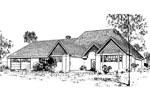 European House Plan Front of Home - 085D-0324 | House Plans and More
