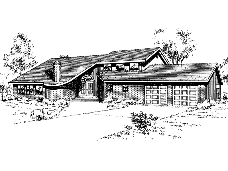 Traditional House Plan Front of Home - 085D-0328 | House Plans and More