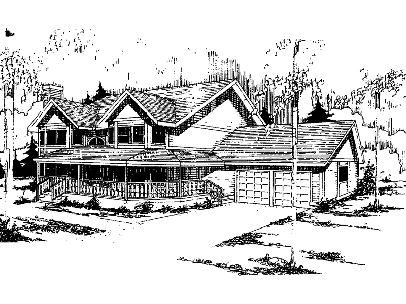 Farmhouse Plan Front of Home - 085D-0330 | House Plans and More