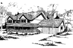 Farmhouse Home Plan Front of Home - 085D-0330 | House Plans and More