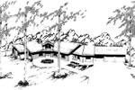 Ranch House Plan Front of Home - 085D-0332 | House Plans and More