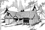 Ranch House Plan Front of Home - 085D-0334 | House Plans and More