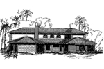 Adobe and Southwestern Plan Front of Home - 085D-0337 | House Plans and More