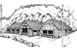 Ranch House Plan Front of Home - 085D-0339 | House Plans and More