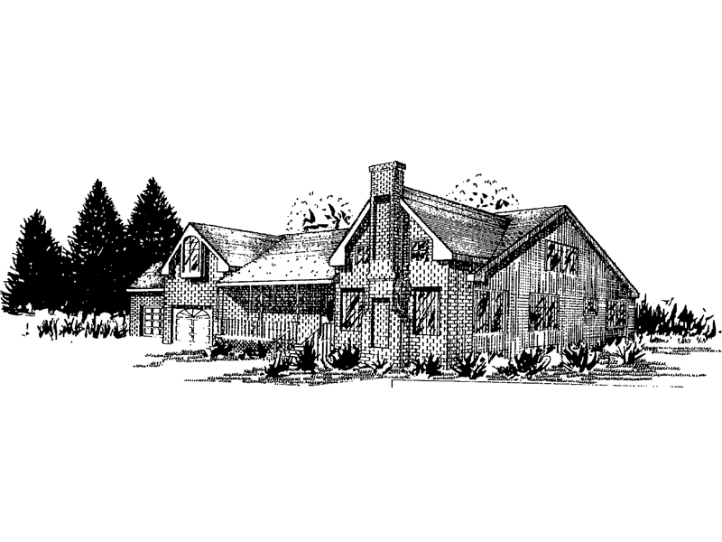 Country House Plan Front of Home - 085D-0341 | House Plans and More