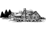 Ranch House Plan Front of Home - 085D-0341 | House Plans and More
