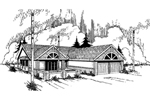 Ranch House Plan Front of Home - 085D-0347 | House Plans and More