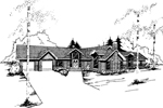 Contemporary House Plan Front of Home - 085D-0351 | House Plans and More