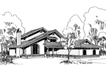 Adobe House Plans & Southwestern Home Design Front of Home - 085D-0352 | House Plans and More