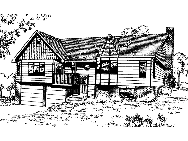 English Tudor House Plan Front of Home - 085D-0353 | House Plans and More