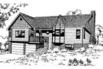 Ranch House Plan Front of Home - 085D-0353 | House Plans and More