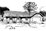 Ranch House Plan Front of Home - 085D-0354 | House Plans and More