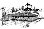 Mountain Home Plan Front of Home - 085D-0358 | House Plans and More