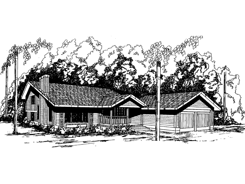 Ranch House Plan Front of Home - 085D-0359 | House Plans and More