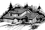 Contemporary House Plan Front of Home - 085D-0360   House Plans and More