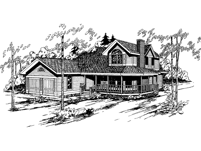 Farmhouse Plan Front of Home - 085D-0362 | House Plans and More