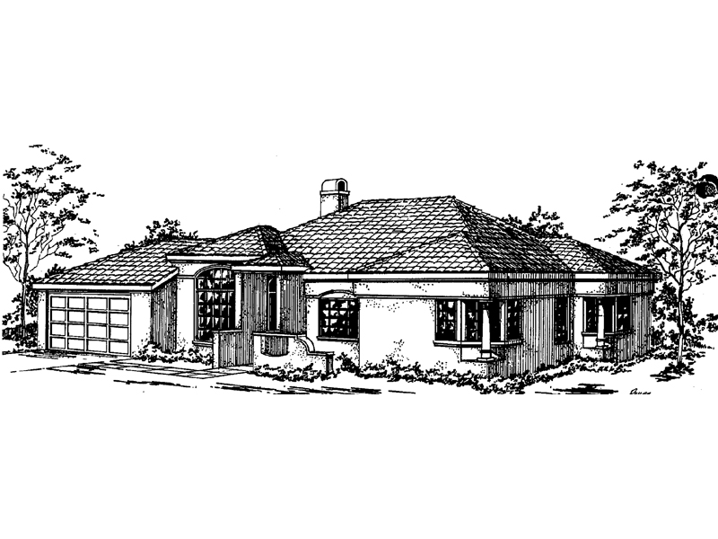 Adobe House Plans & Southwestern Home Design Front of Home - 085D-0363 | House Plans and More