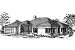 Ranch House Plan Front of Home - 085D-0363 | House Plans and More
