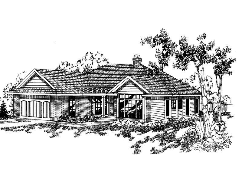 Traditional House Plan Front of Home - 085D-0364 | House Plans and More