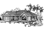 Ranch House Plan Front of Home - 085D-0364 | House Plans and More